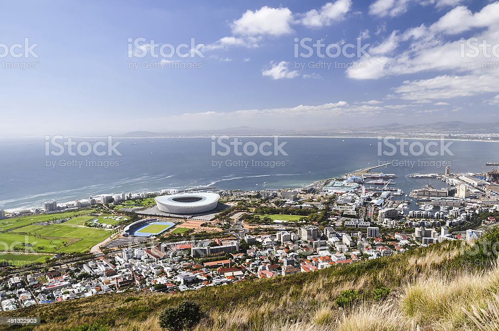 Green Point seen from Signal Hill - Cape Town stock photo
