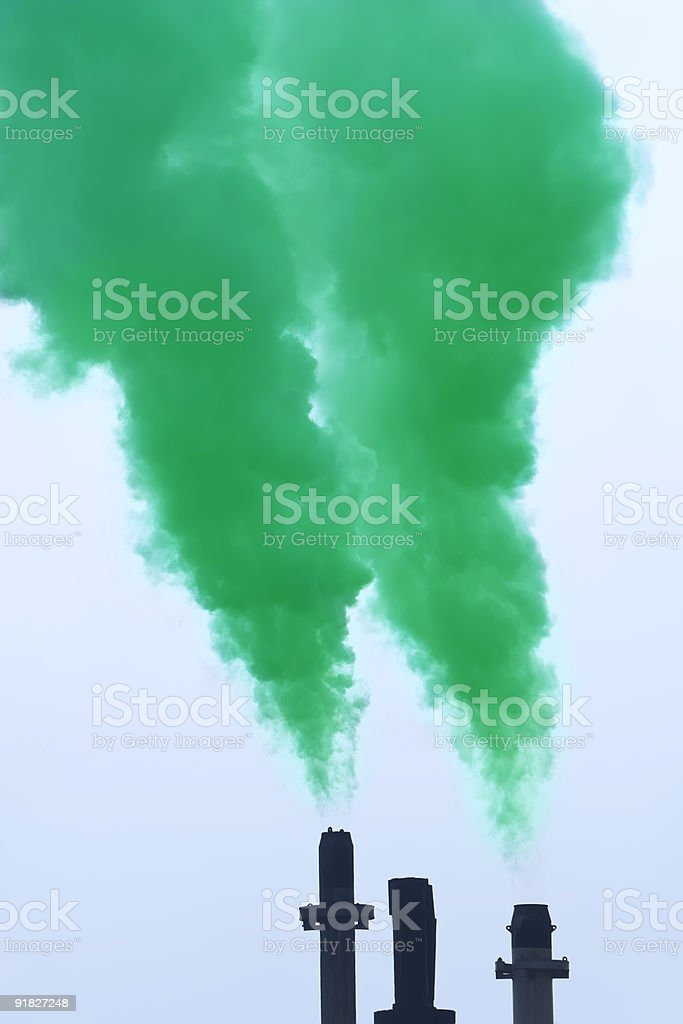 Green Pollution stock photo