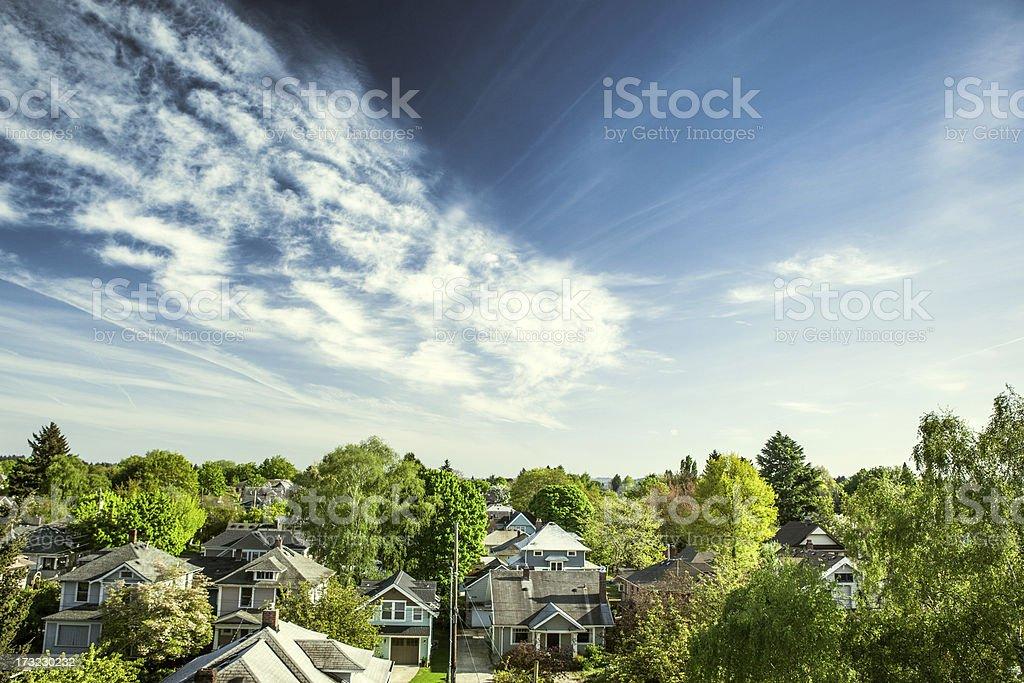 Vert maisons de Portland - Photo
