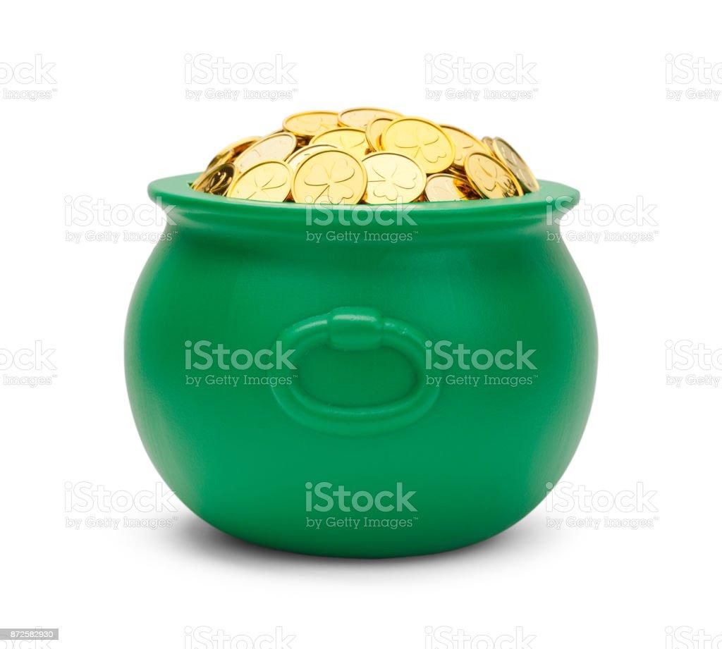 Green Pot of Gold stock photo