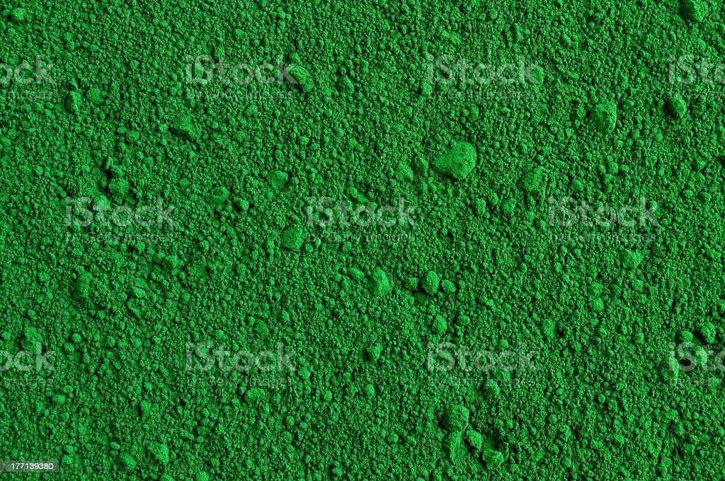 Green powder background stock photo