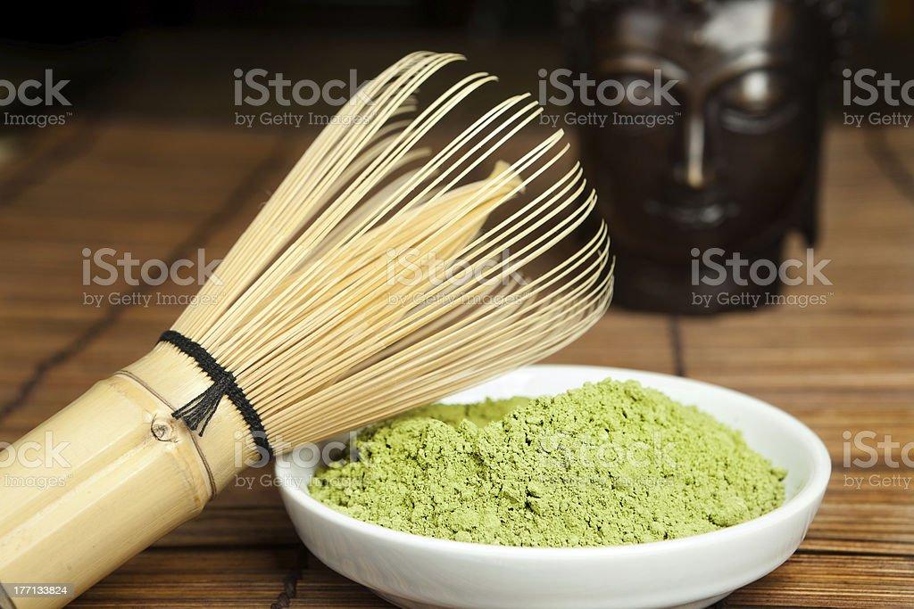 Green powder tea royalty-free stock photo