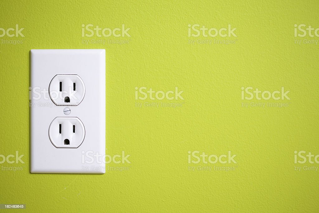 Green power outlet royalty-free stock photo