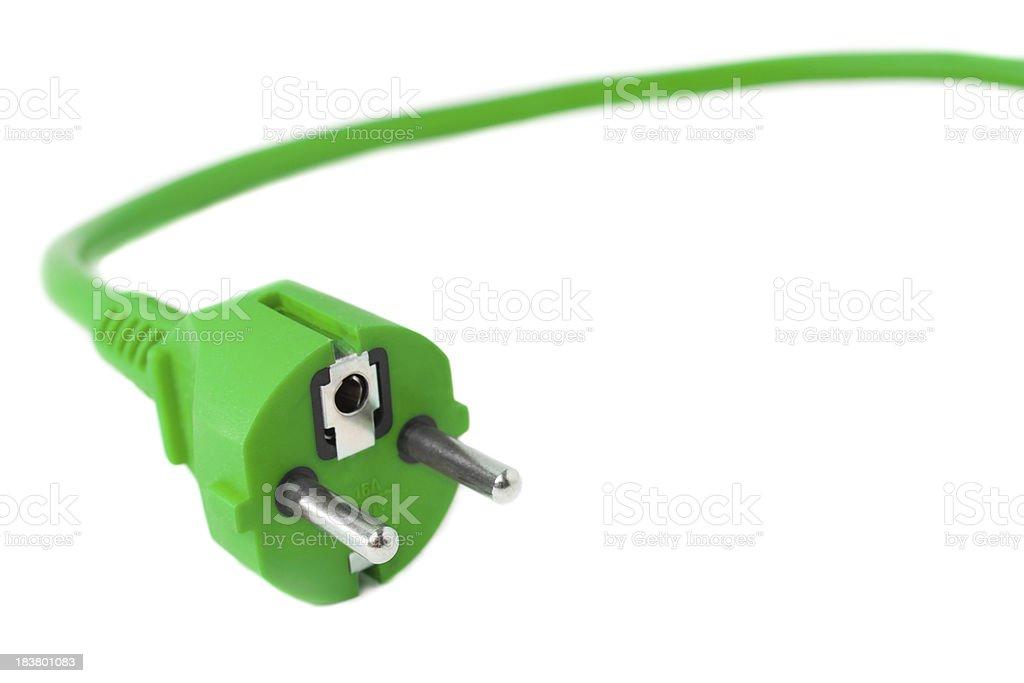 Green Power Plug royalty-free stock photo