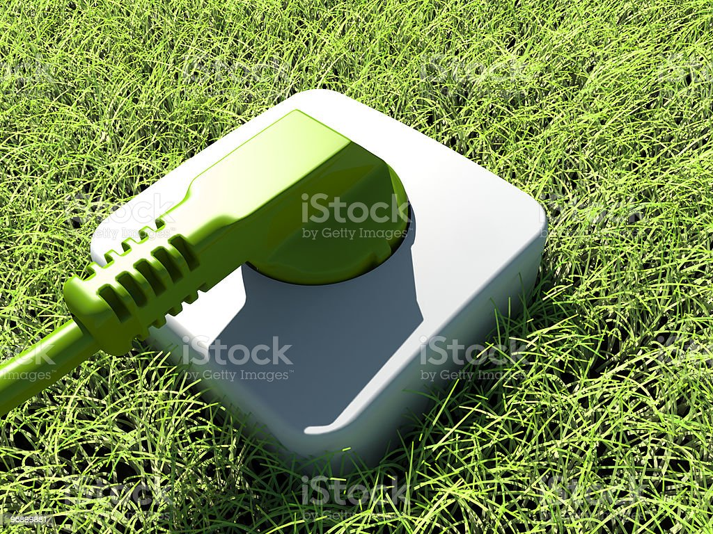 green power supply royalty-free stock photo