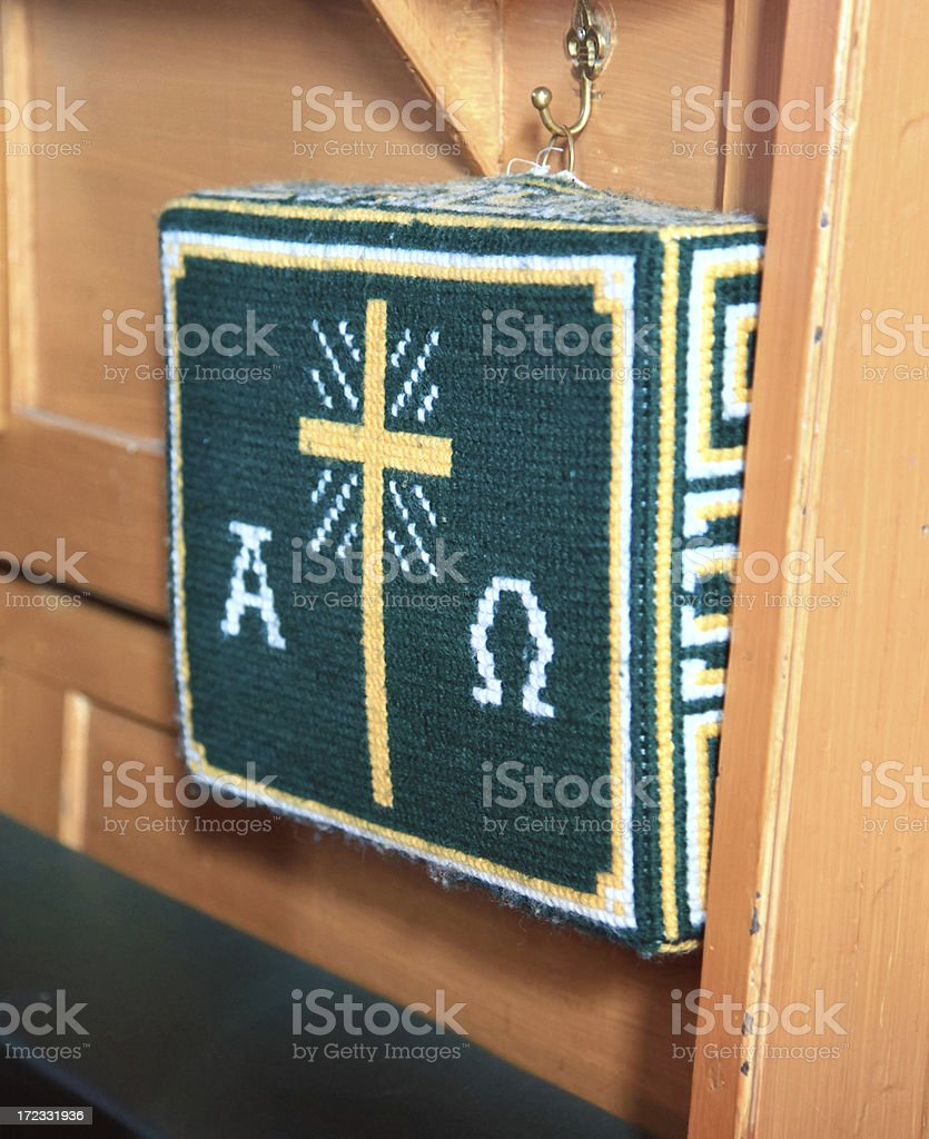 Green Prayer Cushion royalty-free stock photo