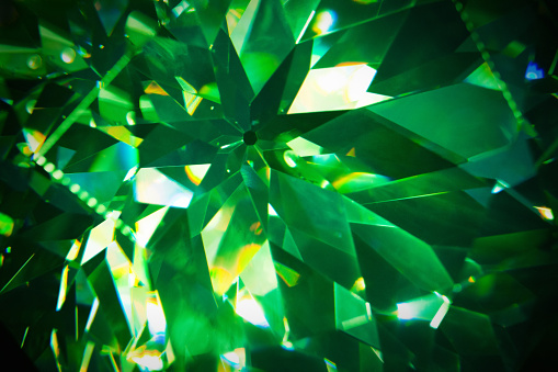 Green crystal background