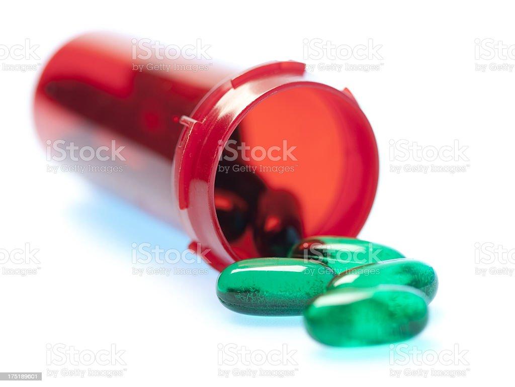 Green prescription drugs royalty-free stock photo