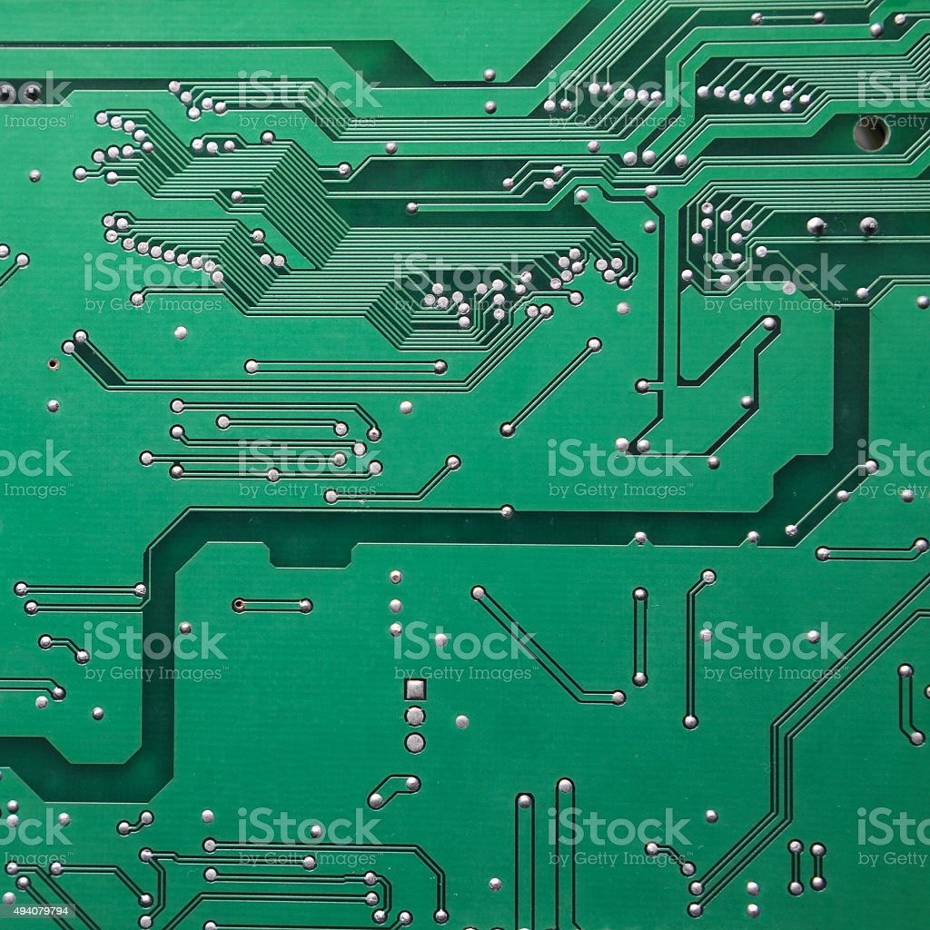 Green Printed Circuit Board Of Electronics Stock Photo More Detail A Royalty Free Image
