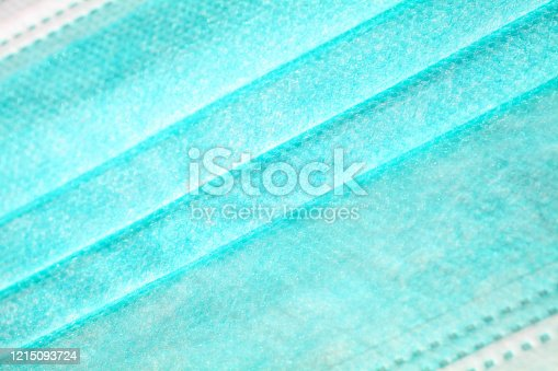 closeup of a protection mask fabric to be used as a background, diagonal