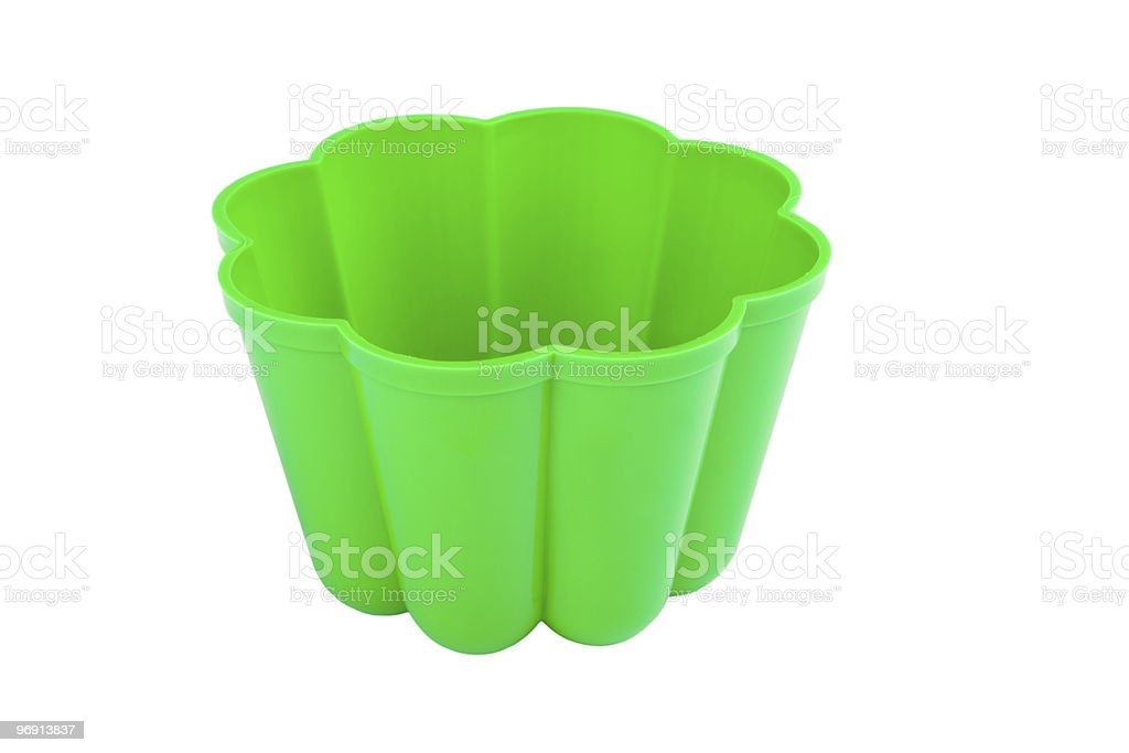 Green pudding basin royalty-free stock photo
