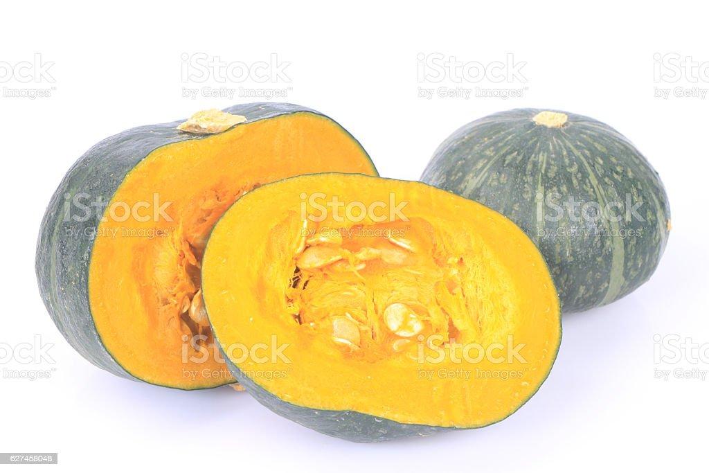 Green pumpkin stock photo