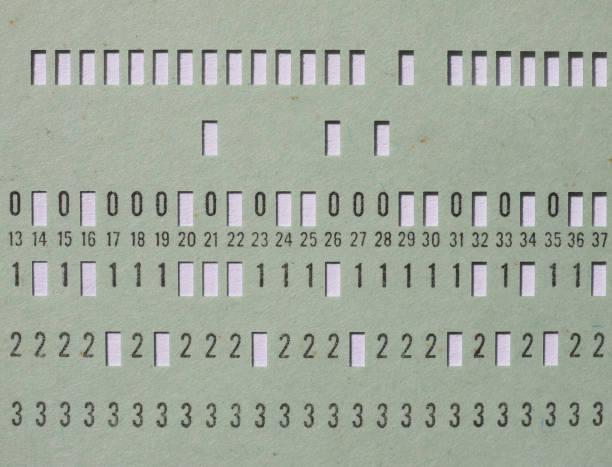 grüne Lochkarte für die Programmierung – Foto