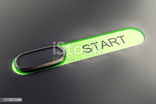 istock Green push buttons Start 1213522096