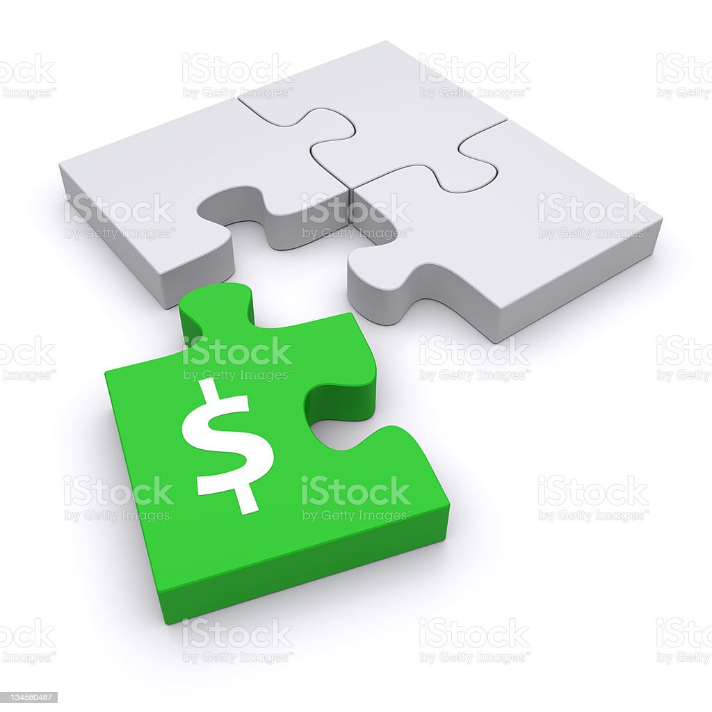 Green puzzle royalty-free stock photo