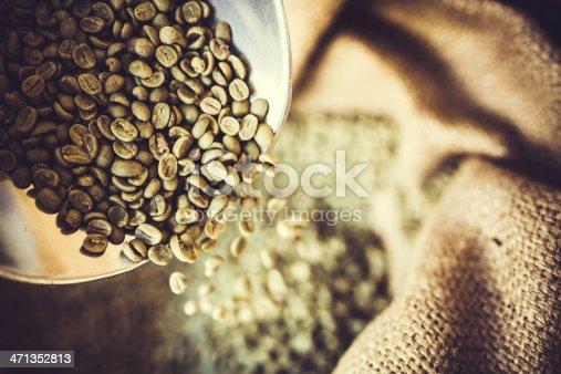 istock Green Raw Coffee Bean Crop 471352813