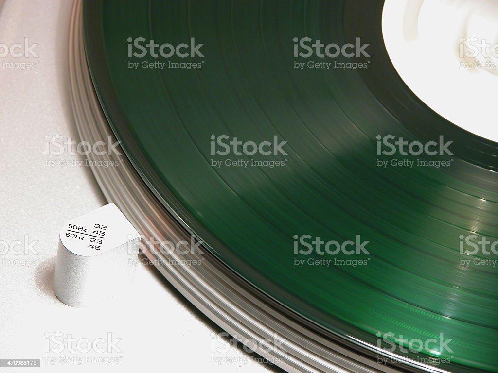 Green Record 3 royalty-free stock photo
