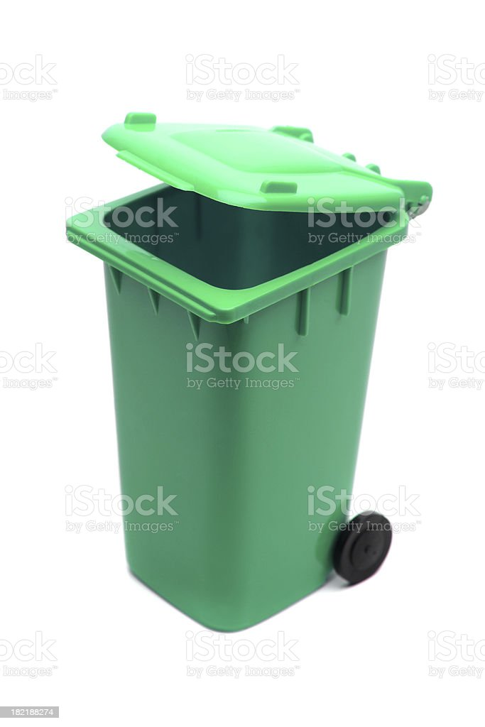Green Recycle Bin royalty-free stock photo