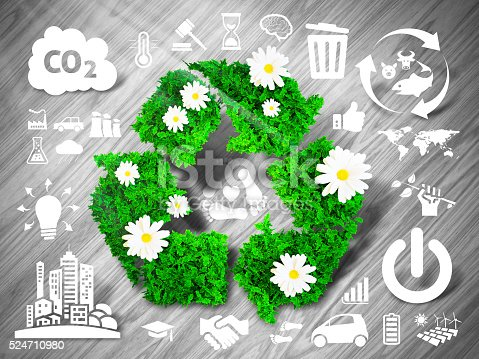istock Green recycle sign 524710980