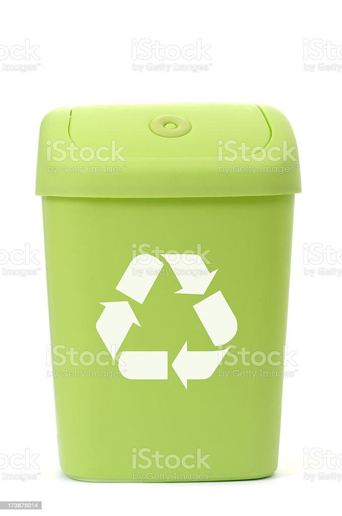 Green Recycling bin royalty-free stock photo