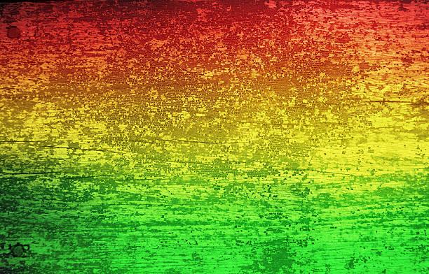 green red yellow grunge wood background (reggae style) - reggae stok fotoğraflar ve resimler