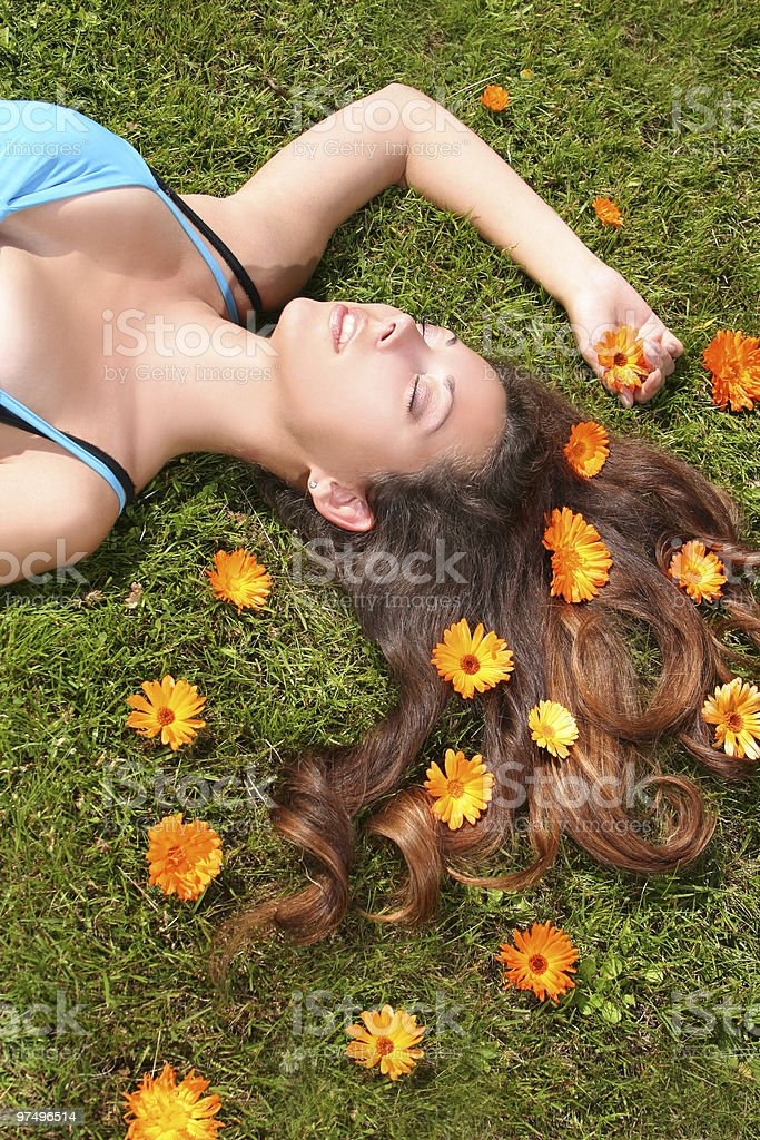 green relaxation royalty-free stock photo