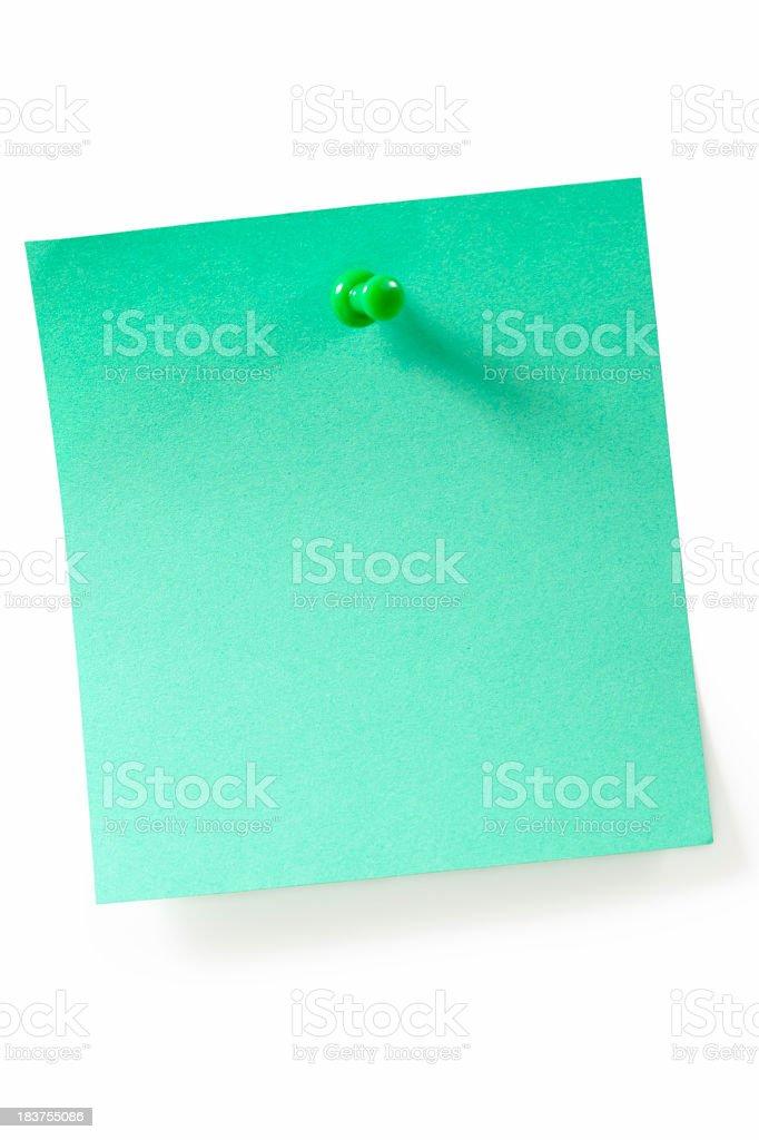 Green reminder royalty-free stock photo