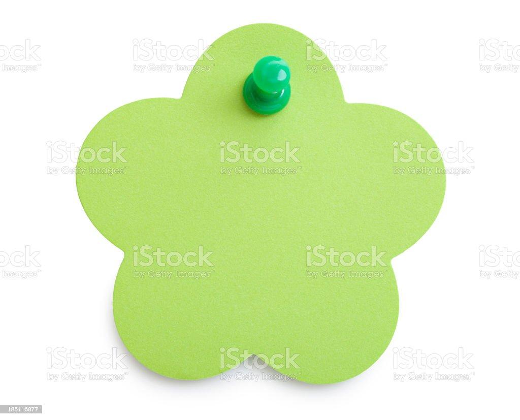 Green reminder stock photo