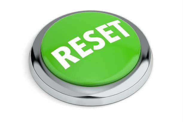 Green Reset Button stock photo