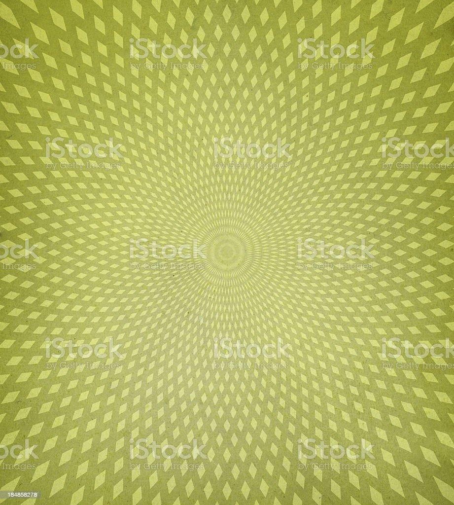 Verde fondo retro con diamantes patrón en espiral - foto de stock