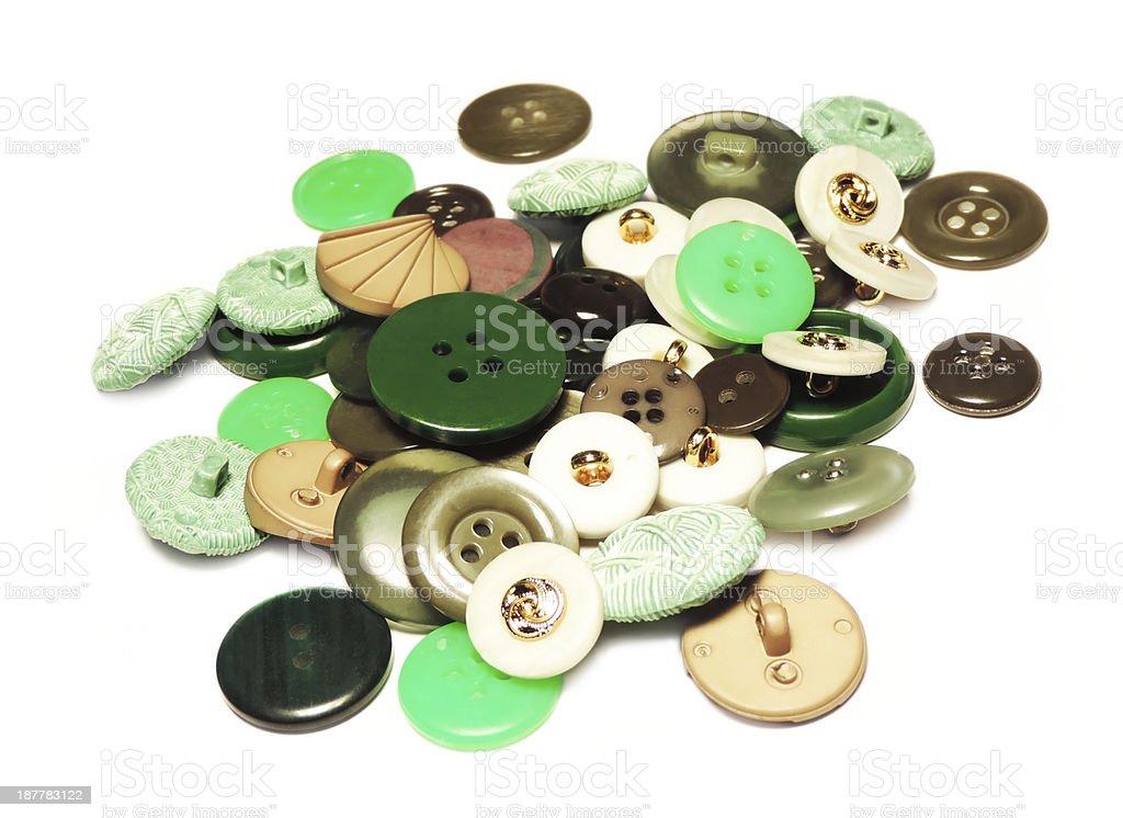 Green retro buttons stock photo