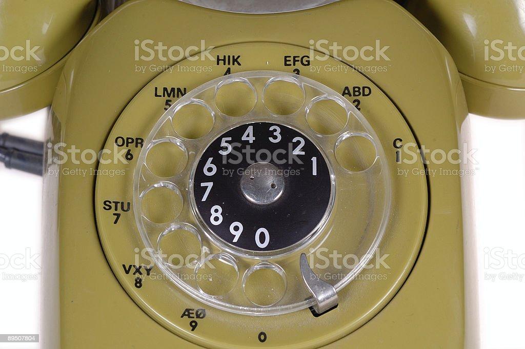 Green retro telephone royalty-free stock photo