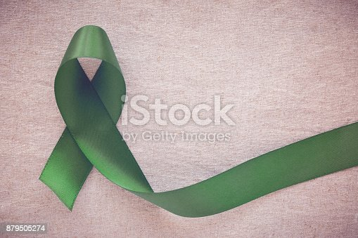 istock Green Ribbon, cancer awareness, Liver, Gallbladder Bile Duct cancer awareness, Hepatitis B awareness 879505274