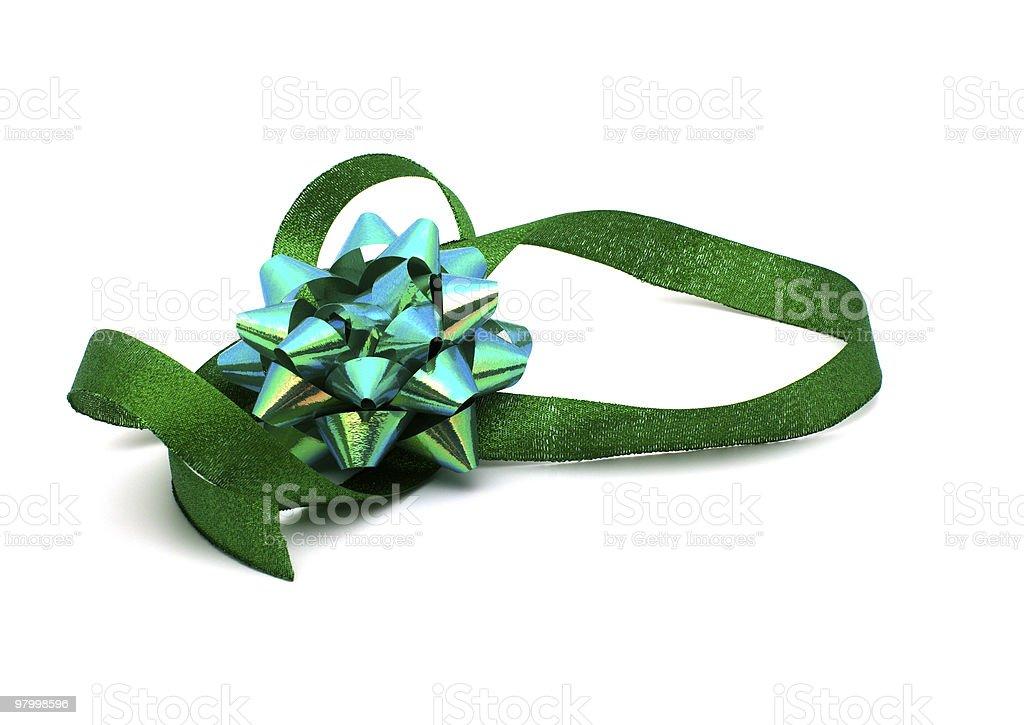 Green ribbon. royalty-free stock photo