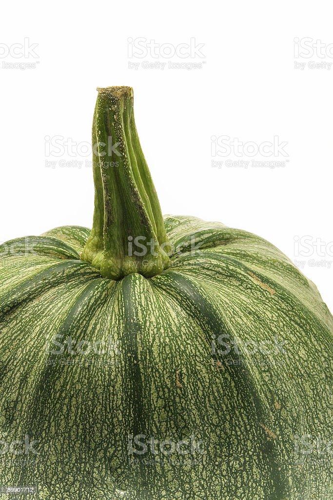 Green ripe pumpkin close-up royalty-free stock photo