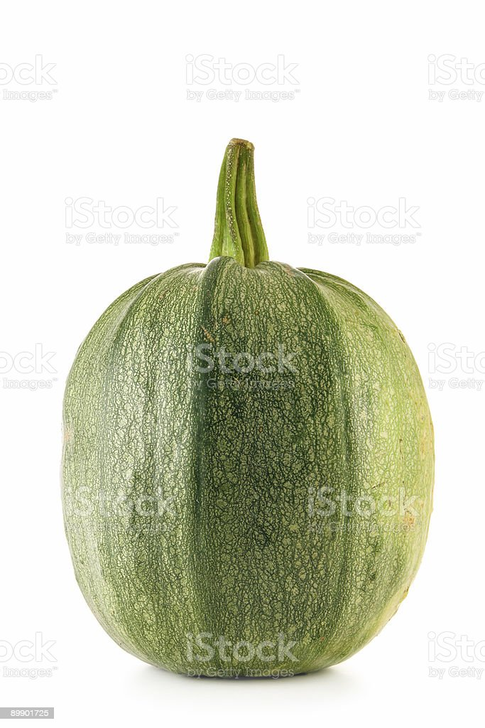 Green ripe pumpkin isolated royalty-free stock photo