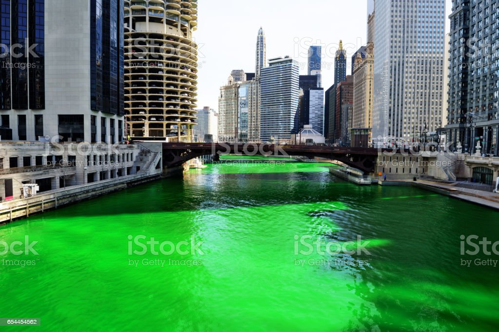 Green River, Chicago stock photo