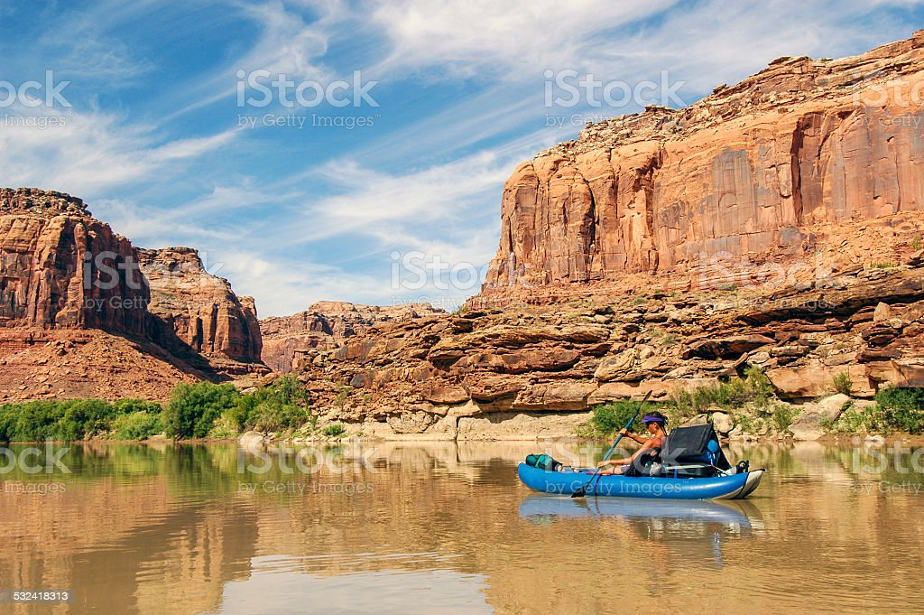 Green River Tranquility stock photo