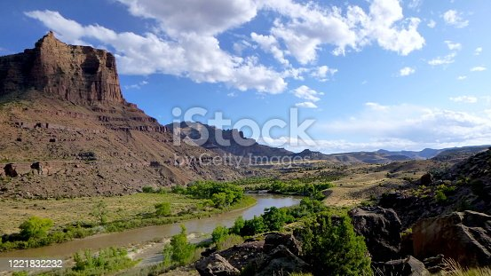 This photo was taken above the green river in Utah