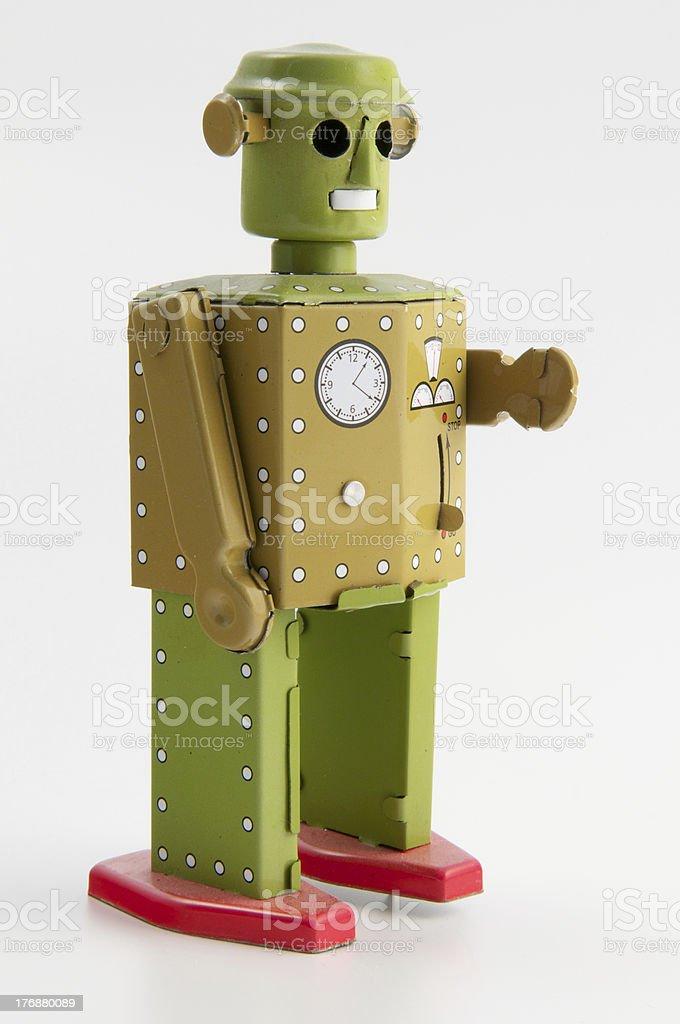 robot verde (vista posteriore - foto stock