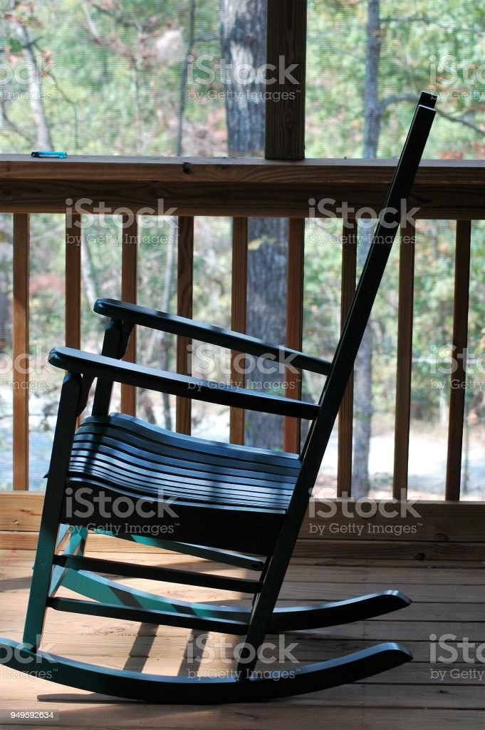 Astonishing Green Rocking Chair On A Porch Stock Photo Download Image Gmtry Best Dining Table And Chair Ideas Images Gmtryco