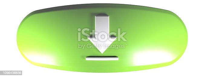 935214858istockphoto Green rounded rectangle DOWNLOAD - 3D rendering illustration 1096436836