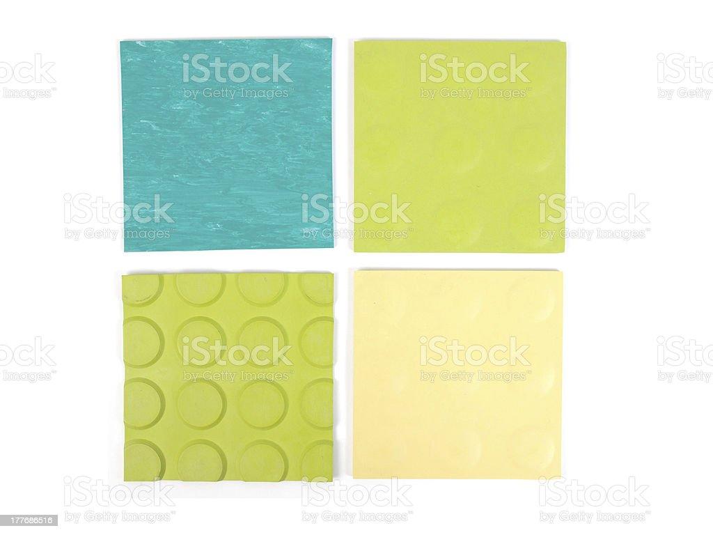 Green rubber linoleum sample royalty-free stock photo