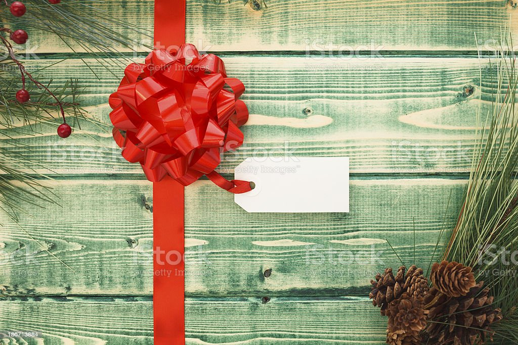 Green Rustic Christmas royalty-free stock photo