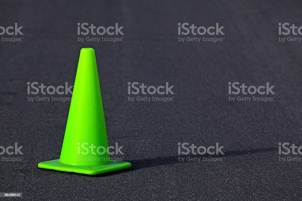 Green Safety Cone royalty-free stock photo