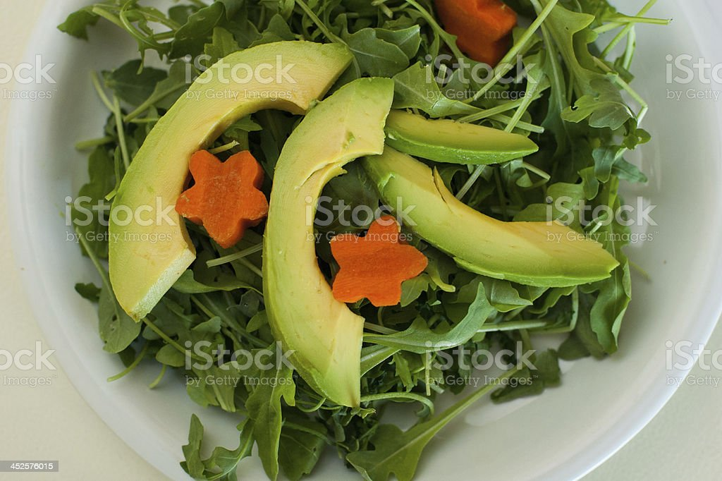 Green Salad and avocado royalty-free stock photo