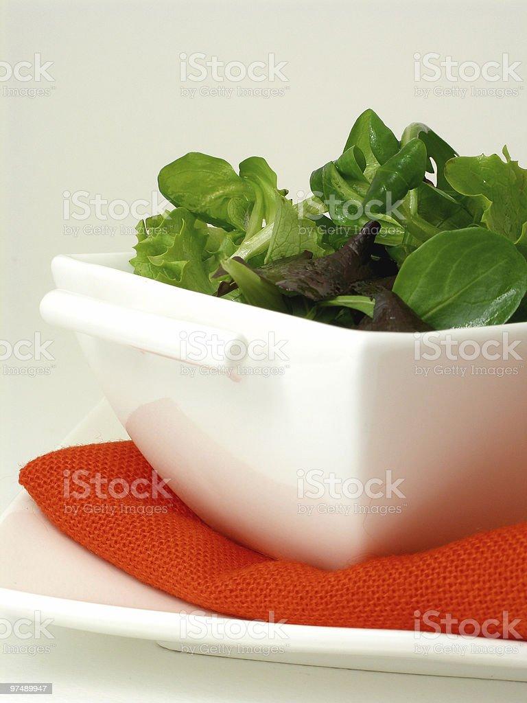 Green salad bowl royalty-free stock photo