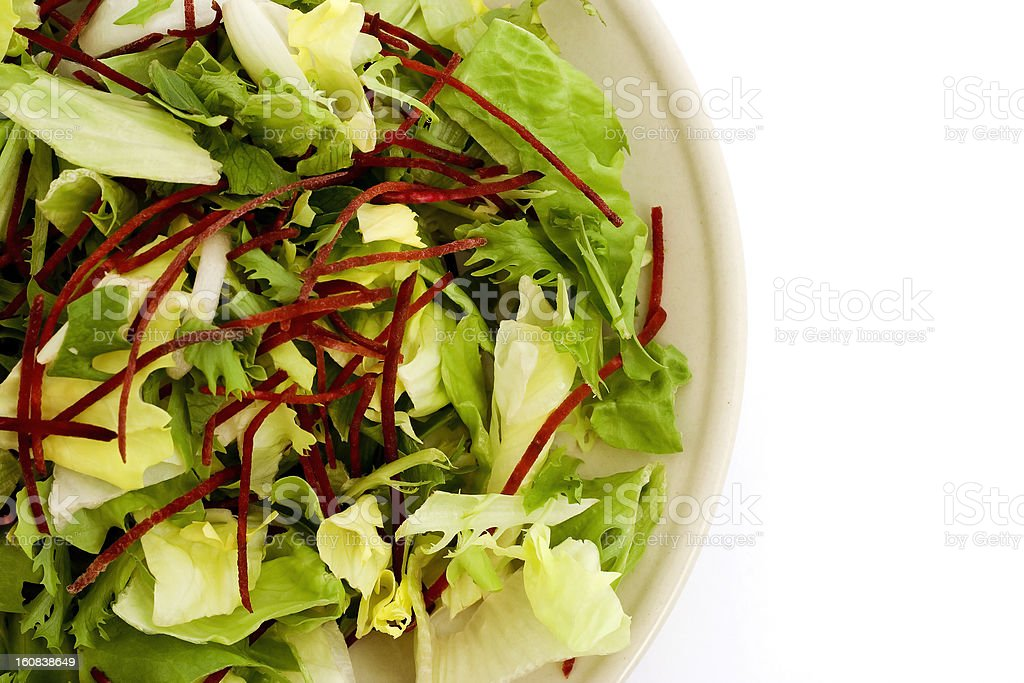 Green salad on plate royalty-free stock photo