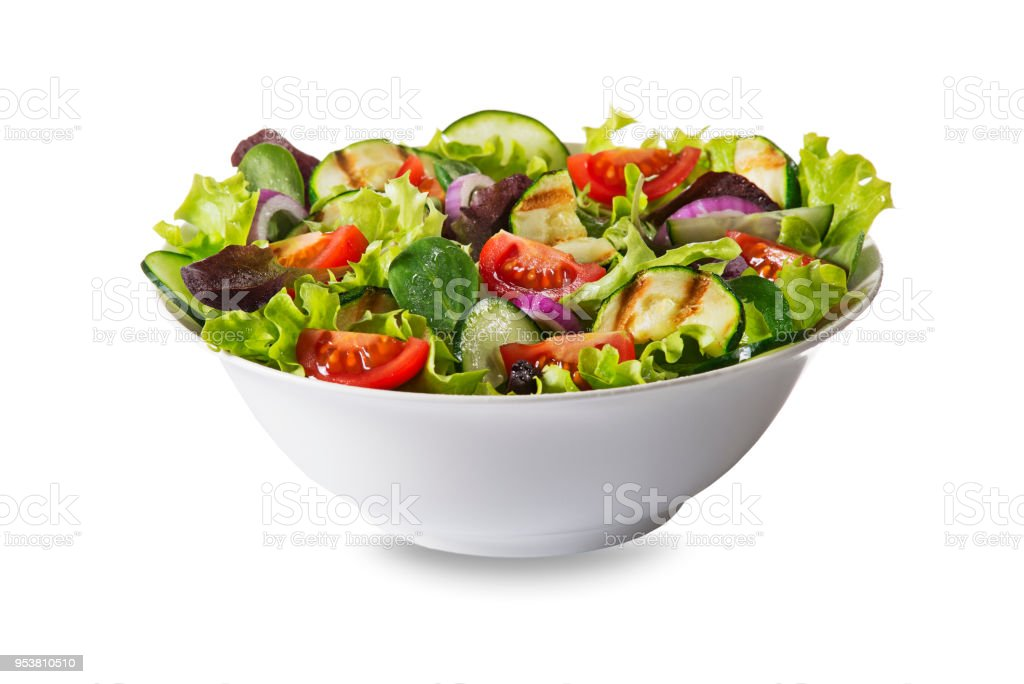 Salade verte aux légumes frais photo libre de droits