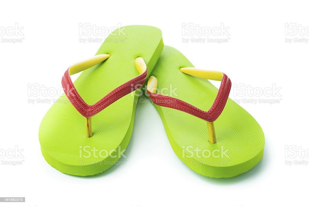 Green sandal stock photo